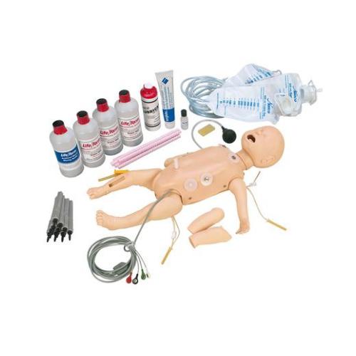 德国3B Scientific®全功能婴儿急救人体模型,带交互式ECG模拟装置